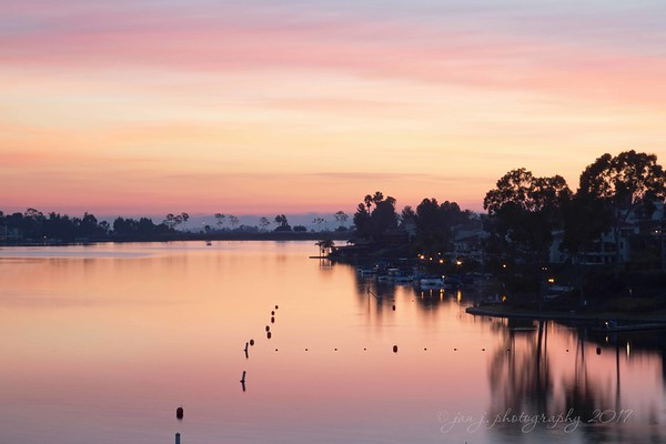 Tonight's sunset over Lake Mission Viejo.<br /> <br /> Mission Viejo, CA
