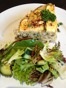 Day 280: Dinner - Quinoa, Zucchini and Almond Pie (yum!)