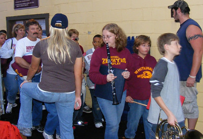 Whitehall Homecoming Game - Middle School Band Attending  10-19-2007