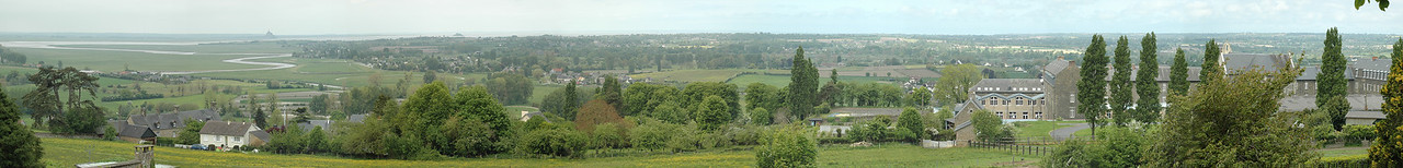Avranches - 2009 - Panorama from Le-Jardin-des-Plantes