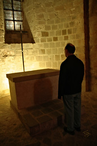 Mont-Saint-Michel 2006 - Father Mark at the Altar