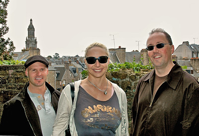 Avranches 2006 - Bobby, Jess, and Father Mark