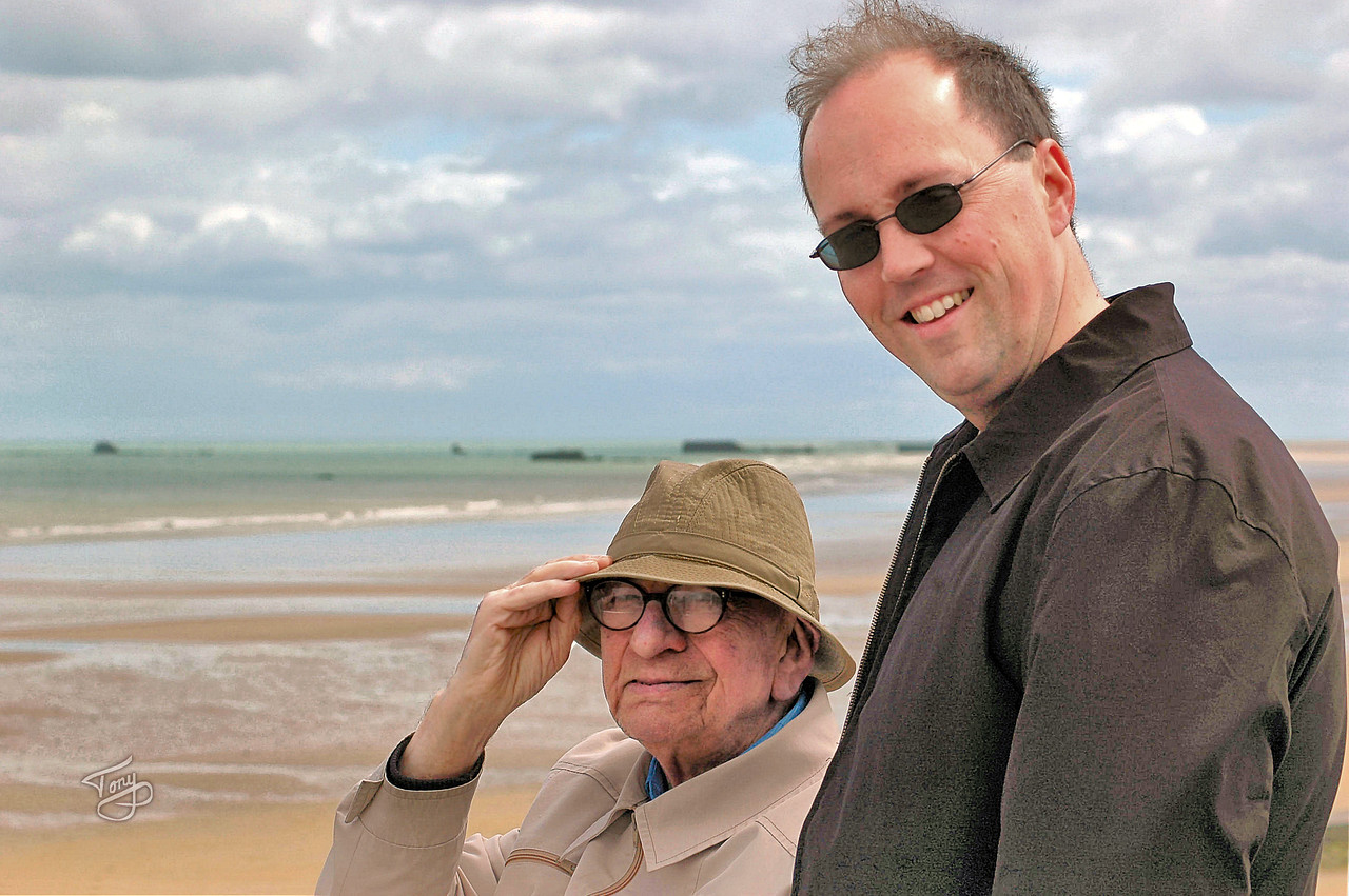 Arromanches 2006 - Dad and Father Mark