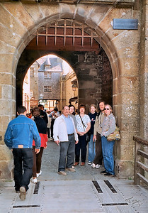Dad, Jess, Betty, Mel, Erik, and Judy au Mont-Saint Michel 2003