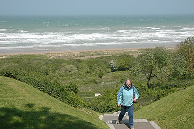 Omaha Beach 2009 - below Normandy American Cemetery in Colleville - halfway up the slope