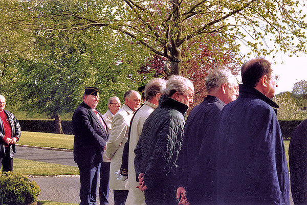 Brittany American Cemetery 2004 Memorial Day - Davis and Dad with other dignitaries watch the Proceedings.