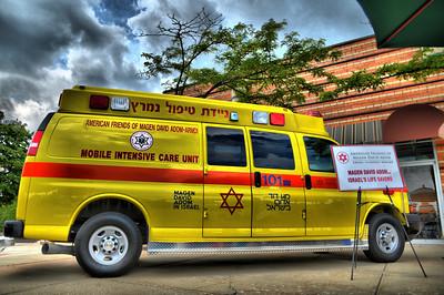 AFMDA Ambulance at the Buffalo Grove Art Show 7-18-10