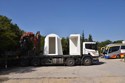 Ma'asay Yadav Dedicated Shelter to Kibbutz Alumim