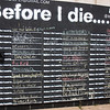 the 'before I die' wish wall