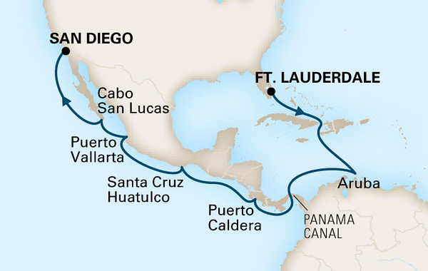 Panama Canal Roundtrip Ft Lauderdale-San Diego 28 Days