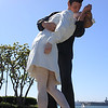 'Kissing Sailor' statue in San Diego Marina Park