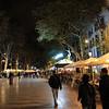 La Rambla.. walking cafe area downtown Barcelona