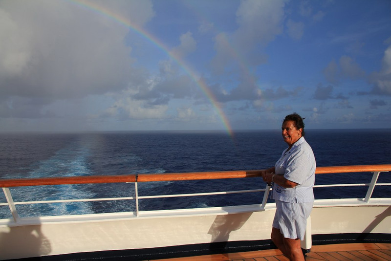 our friend Ruth and a Rainbow