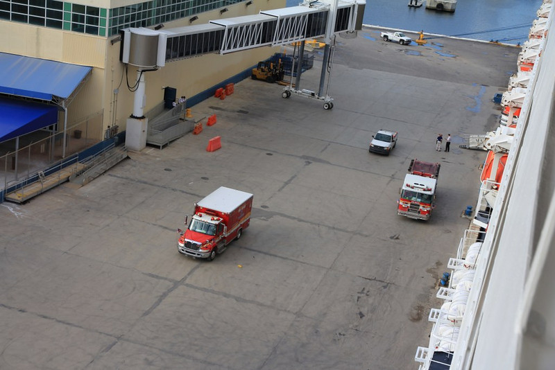 the first Med-Evac before we even left the dock