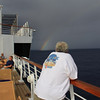 Tom checking out the rainbow.. and squall situation...
