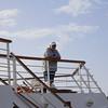 Tom C taking a gander on the Lido deck..
