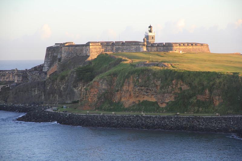 El Morro -- sailing past at the entrance to Old Juan Juan