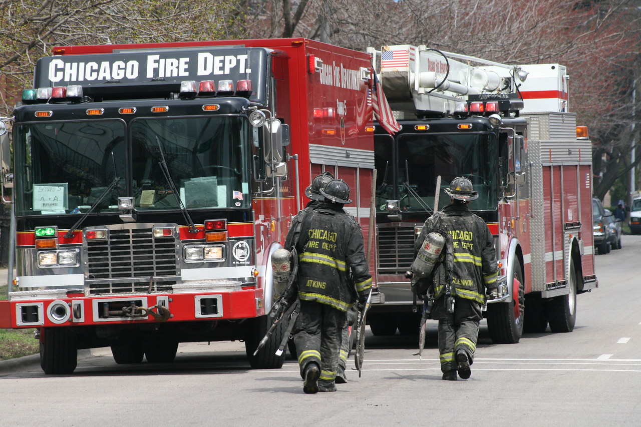 Chicago Fire Department Working Still Alarm Fire 4511 Michigan 354