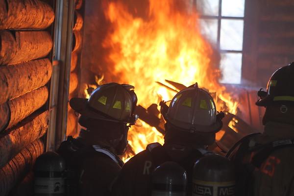 Randall Fire Department Live Fire 2018