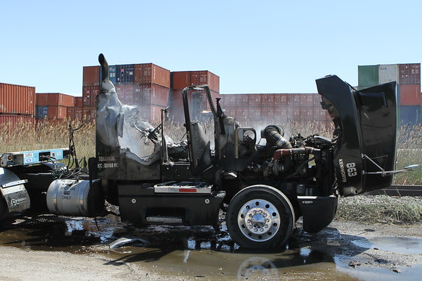 Stickney Semi Fire