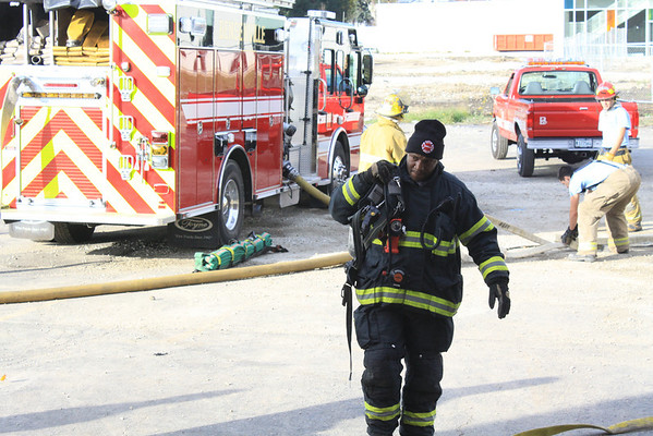 Bensenville Fire Department And Chicago Fire Department Squad 7 Live Fire Training 10-28-2012