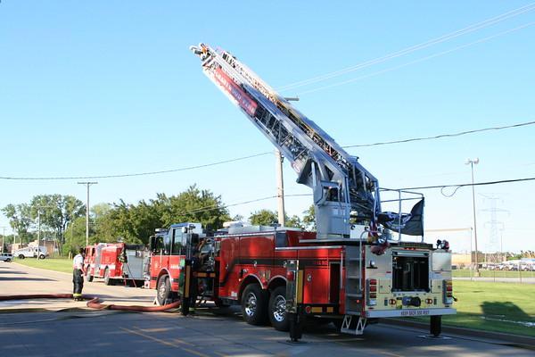 Crestwood Fire Department Live Fire Training 13500 S. kostner 6-6-2010