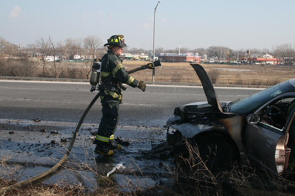 Posen Fire Department Car Fire Northbound 57 At 147th Street