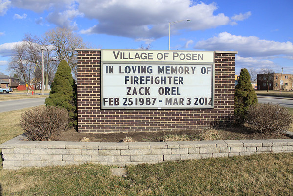 """Posen Fire Dept FF/PM Zack Orel's Memorial Service """"May He Rest In Peace"""""""