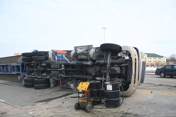 Dolton Fire Department Semi Rollover Sibley & Bishop Ford