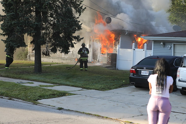 Dolton Fire Department Working Fire 14326 S Lincoln  1 Story Ranch Fire Out The Front Windows
