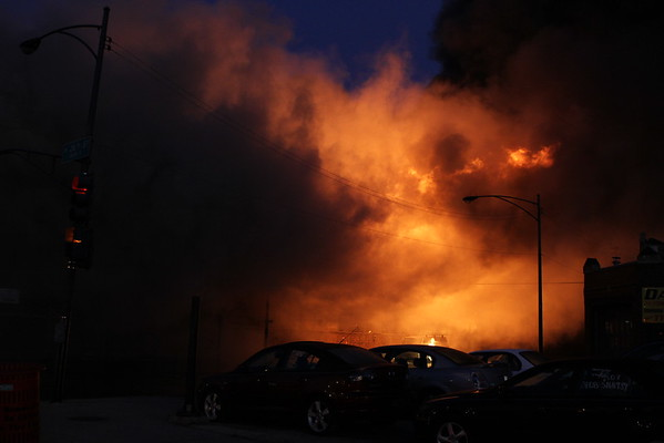 Chicago Fire Department 5-11 Alarm Fire 2529 S. Kostner 3 Story Vacant Warehouse 200 X 600