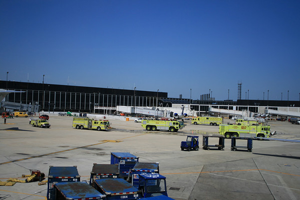 CFD US HONOR FLAG ARRIVES AT O'HARE AIRPORT FOR THE FUNERAL SERVICES FOR FF/PM CHRIS WHEATLEY OF TRUCK CO # 2