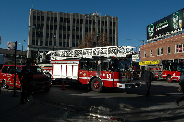 CFD Truck 58 Memorial Clean Up Day Milwaukee & Diversey