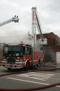 Chicago FireFighters From Squad 2 Work At A Still 7 Box Alarm Fire 2543 W. Irving Park Road