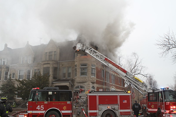Chicago Fire Department Still & Box Alarm Fire 45th & Ellis