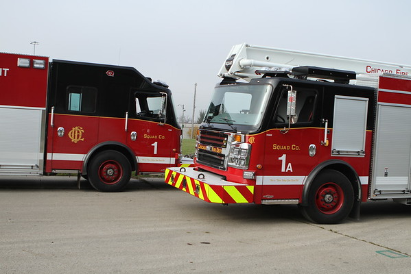 Chicago Fire Department New Squad 1 Training  also 1st shift Members