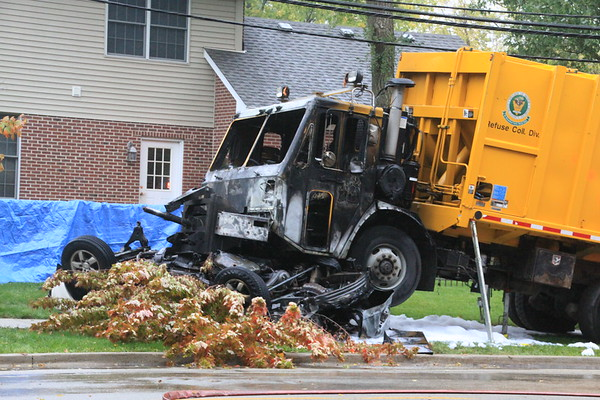 Glenview Fire Department Fatal 10-50 Garbage Truck V.S Car Harrison & Harlem