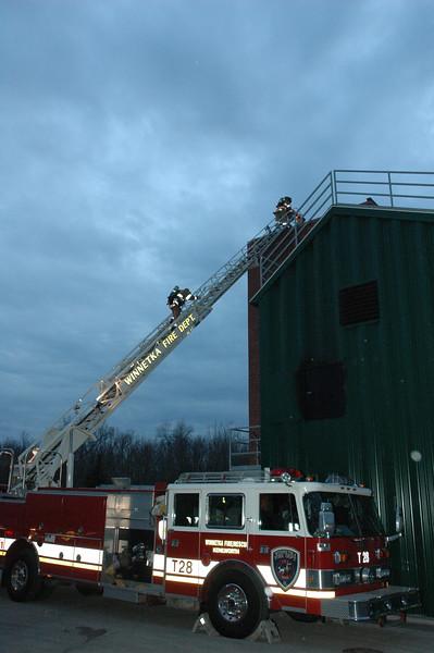 Live Fire Training At Winnetka Drill Tower