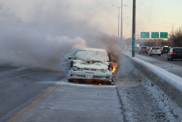 Skokie Fire Department Auto Fire Northbound Edens North Of Touhy
