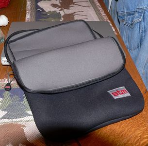 A cushioned , zippered sleeve for the TiBook.