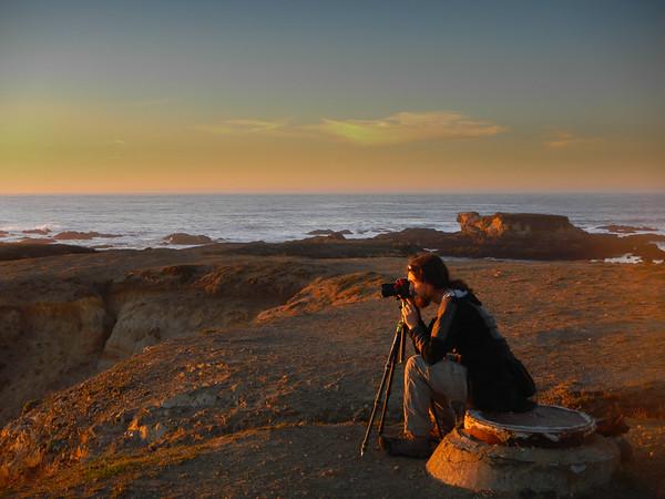 california; glass beach; mackerricher state park; ocean; west coast Luke framing his shot.