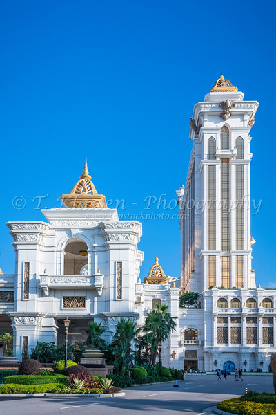 Exterior of the Galaxy Hotel and Casino in Macau, Asia.