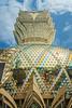 The exterior facade of the Grand Lisboa Hotel and Casino in Macau, Asia.