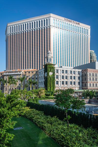 The Venetian Hotel and Casino in Macau, Asia.