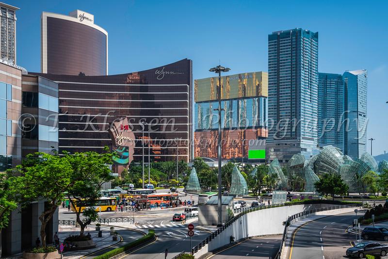 The Wynn Hotel and Casino complex in Macau, Asia.