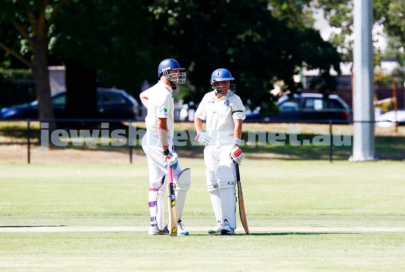 25-3-17. AJAX Maccabi Saturday XI cricket final. Defeated Gunbower United. Photo: Peter Haskin