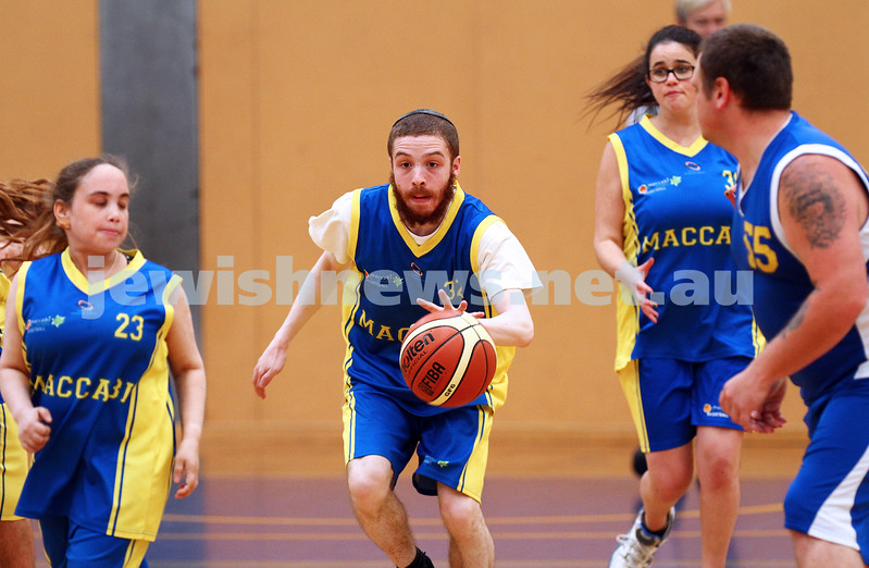 29-11-15. Maccabi All Abilities basketball team in action at a tournament held at Bialik College.  Yisroel Nutovics. Photo: Peter Haskin