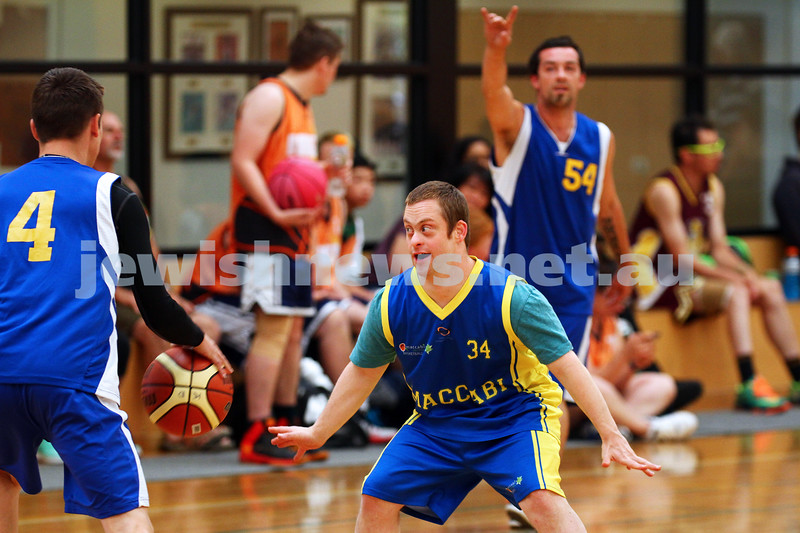 29-11-15. Maccabi All Abilities basketball team in action at a tournament held at Bialik College. Photo: Peter Haskin