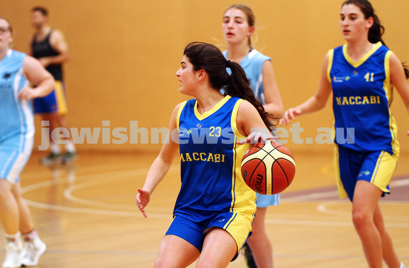 11-10-15. Maccabi Australia 90th Anniversary Insterstate Challenge. Bialik College. Victoria v NSW. U16 Girls Basketball. Photo: Peter Haskin