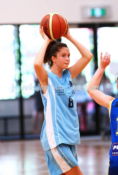11-10-15. Maccabi Australia 90th Anniversary Insterstate Challenge. Bialik College. Victoria v NSW. U16 Girls Basketball. Photo: Peter Haskin